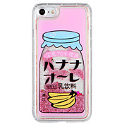 Etui Til Apple iPhone 7 Plus iPhone 7 Flommende væske Mønster Bakdeksel Ord / setning Frukt Glimtende Glitter Hard PC til iPhone 7 Plus