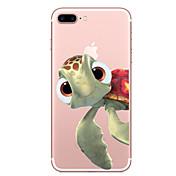 Etui Til Apple iPhone X iPhone 8 Gjennomsiktig Mønster Bakdeksel Dyr Myk TPU til iPhone X iPhone 8 Plus iPhone 8 iPhone 7 Plus iPhone 7