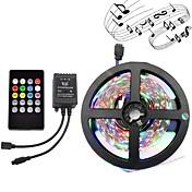 5 m Lyssett 300 LED 3528 SMD RGB Fjernkontroll / Kuttbar / Mulighet for demping 12 V 1set / IP65 / Vanntett / Koblingsbar / Selvklebende / Fargeskiftende