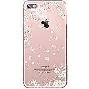 Funda Para Apple iPhone 7 Plus iPhone 7 Ultrafina Transparente Diseños Funda Trasera Flor Suave TPU para iPhone 7 Plus iPhone 7 iPhone 6s