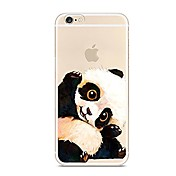 Funda Para Apple iPhone 7 Plus iPhone 7 Ultrafina Traslúcido Diseños Funda Trasera Oso Panda Animal Suave TPU para iPhone 7 Plus iPhone 7