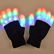 1 Par Luz de Dedo LED RGB Batería Decorativa