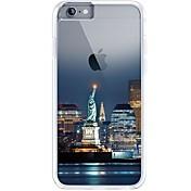 Para iPhone 7 iPhone 7 Plus Carcasa Funda Ultrafina Transparente Diseños Cubierta Trasera Funda Vista de la ciudad Suave TPU para Apple