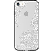 Para iPhone 7 iPhone 7 Plus Carcasa Funda Ultrafina Transparente Diseños Cubierta Trasera Funda Impresión de encaje Suave TPU para Apple