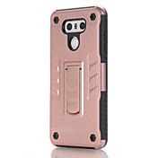 para la cubierta del caso con la PC suave del color sólido del caso de la contraportada del soporte para lg lg g6