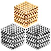 216 * 3pcs 3m m de oro y plata diy bolas magnéticas bolas mágicas cubo rompecabezas rompecabezas rompecabezas bloque juguete