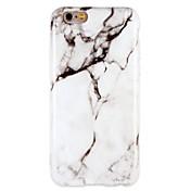 Funda Para Apple iPhone 7 Plus iPhone 7 Antigolpes IMD Funda Trasera Mármol Suave TPU para iPhone 7 Plus iPhone 7 iPhone 6s Plus iPhone