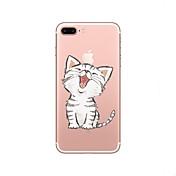 Etui Til Apple iPhone X iPhone 8 Gjennomsiktig Mønster Bakdeksel Katt Myk TPU til iPhone X iPhone 8 Plus iPhone 8 iPhone 7 Plus iPhone 7