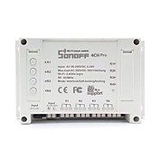 sonoff® 4ch pro 10a 2200w rf inching / autobloqueo / enclavamiento casa inteligente wifi inalámbrico aplicación de interruptor ac 90v-250v / 5-24v dc