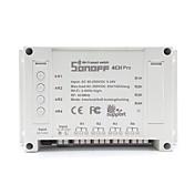 sonoff® 4ch pro 10a 2200w rf inching / selvlåsende / interlock smart hjemme wifi trådløs bryter app ac 90v-250v / 5-24v dc