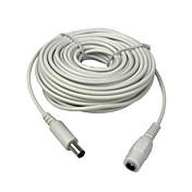 10m (30ft) 2.1x5.5mm dc 12v cable de extensión de alimentación para cctv cámaras de seguridad cámara ip dvr standalone