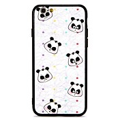 Funda Para Apple iPhone 7 Plus iPhone 7 Antigolpes En Relieve Funda Trasera Oso Panda Dura ordenador personal para iPhone 7 Plus iPhone 7