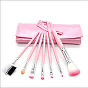 7 stk Makeup børster Profesjonell Børstesett Syntetisk hår Full Dekning Tre
