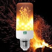 YWXLIGHT® 6W 550-600 lm E14 E27 E12 B22 LED-kornpærer T 99 leds SMD 3528 Mulighet for demping Flamme Flimrende Dekorativ Varm hvit 85-265V