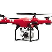 RC Dron X52HD 4 Canales 6 Ejes 2.4G Con Cámara 720P HD Quadccótero de radiocontrol  Altura WIFI FPV Cámara Gran Angular Iluminación LED