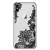 Etui Til Apple iPhone X iPhone 8 Ultratynn Gjennomsiktig Mønster Bakdeksel Blonde Print Myk TPU til iPhone X iPhone 8 Plus iPhone 8
