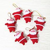 6pcs Navidad ornamentos de Navidad, Decoraciones de vacaciones 10.0*10.0*3.0
