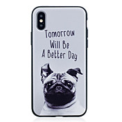 Etui Til Apple iPhone X iPhone 8 Plus IMD Mønster Bakdeksel Hund Myk TPU til iPhone X iPhone 8 Plus iPhone 8 iPhone 7 Plus iPhone 7
