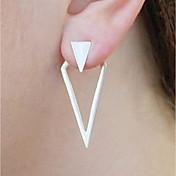 Mujer Pendientes cortos Pendientes elegantes por delante y por detrás Vintage Moda Joyería Destacada Legierung Triángulo Geometric Shape