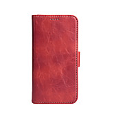Etui Til Apple iPhone X Kortholder Lommebok Heldekkende etui Helfarge Hard PU Leather til iPhone X