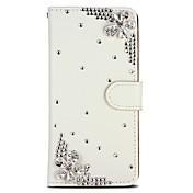 Funda Para Apple iPhone 6 iPhone 6 Plus iPhone 7 Plus iPhone 7 Soporte de Coche Diamantes Sintéticos Funda de Cuerpo Entero Flor Brillante