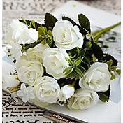 1 Gren Plastikk Andre Roser Bordblomst Kunstige blomster