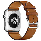 Klokkerem til Apple Watch Series 3 / 2 / 1 Apple Klassisk spenne Ekte lær Håndleddsrem