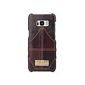 케이스 제품 Samsung Galaxy S8 Plus S8 카드 홀더 뒷면 커버 한 색상 하드 진짜 가죽 용 S8 Plus S8