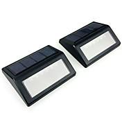 2 stk 1w plen lys soltett dekorativt lys kontroll utendørs belysning varm hvit kald hvit