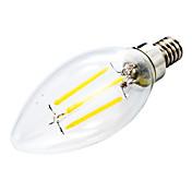 400 lm E12 LED-lysestakepærer C35 leds COB Mulighet for demping Dekorativ Varm hvit AC 110-130V