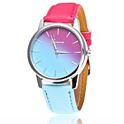 Mujer Cuarzo Reloj de Pulsera Chino Reloj Casual PU Banda Casual Reloj de Vestir Moda Azul Rojo Rosa Fucsia