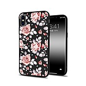 Funda Para Apple iPhone X iPhone 8 Plus Diseños Funda Trasera Flor Suave TPU para iPhone X iPhone 8 Plus iPhone 8 iPhone 7 Plus iPhone 7