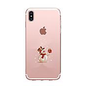 Funda Para Apple iPhone X iPhone 8 iPhone 8 Plus Ultrafina Transparente Diseños Funda Trasera Navidad Suave TPU para iPhone X iPhone 8