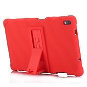Etui Til Lenovo Tab 4 8 Plus med stativ Bakdeksel Ensfarget Stripet Mønster Myk Silikon til Lenovo Tab 4 8 Plus