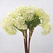 Flores Artificiales 3 Rama Estilo Pastoral Hortensias Flor de Mesa