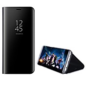 Etui Til Huawei P9 Huawei Huawei P9 Plus P10 Plus P10 Lite med stativ Speil Flipp Heldekkende etui Helfarge Hard PC til P10 Plus P10 Lite
