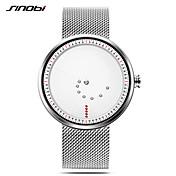 SINOBI Hombre Reloj de Pulsera Japonés Resistente al Agua / Resistente a los Golpes / Reloj Casual Acero Inoxidable Banda Casual / Minimalista Plata / Dos año / Sony SR626SW