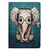Etui Til Apple iPad 10.5 Kortholder med stativ Flipp Mønster Auto Sove/Våkne Heldekkende etui Elefant Hard PU Leather til iPad 4/3/2 iPad