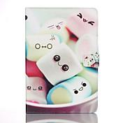 Etui Til Samsung Galaxy Tab A 9.7 Kortholder Lommebok med stativ Mønster Auto Sove/Våkne Heldekkende etui Tegneserie Hard PU Leather til