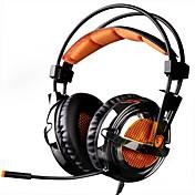 SADES A6 Cinta Con Cable Auriculares Dinámica El plastico De Videojuegos Auricular Con Micrófono Auriculares