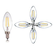 5pcs 2W 180LM E14 LED-glødepærer C35 2 LED perler COB Mulighet for demping / LED Lys / Dekorativ Varm hvit / Kjølig hvit 220-240V / RoHs