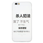Funda Para Apple iPhone X iPhone 8 Diseños Funda Trasera Palabra / Frase Suave TPU para iPhone X iPhone 8 Plus iPhone 8 iPhone 7 Plus