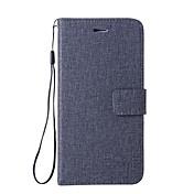 Etui Til LG G6 Kortholder Lommebok med stativ Flipp Heldekkende etui Helfarge Hard PU Leather til LG Nexus 5X LG G6 LG G5