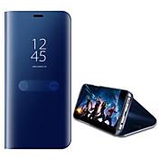 Funda Para Huawei P10 Lite P10 con Soporte Espejo Funda de Cuerpo Entero Color sólido Dura Cuero de PU para P10 Plus P10 Lite P10 Huawei