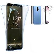 Etui Til Samsung Galaxy S9 S9 Plus Gjennomsiktig Heldekkende etui Ensfarget Myk TPU til S9 Plus S9 S8 Plus S8 S7 edge S7