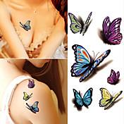 21Grams Klistremerke / Tattoo-klistremerke arm midlertidige Tatoveringer 10 pcs Tegneserie-serien kropps~~POS=TRUNC
