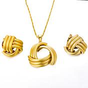 Mujer Conjunto de joyas 1 Collar / Pendientes - Importante / Moda Irregular Dorado Juego de Joyas / Pendientes colgantes / Gargantillas