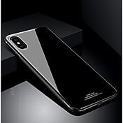 Funda Para Apple iPhone X iPhone 8 Antigolpes Ultrafina Funda Trasera Color sólido Dura Vidrio Templado para iPhone X iPhone 8 Plus