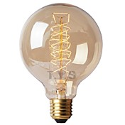 1pc 40W E26 / E27 G125 Varm hvit 2200-2700k Kontor / Bedrift / Mulighet for demping / Dekorativ Glødende Vintage Edison lyspære 220-240V