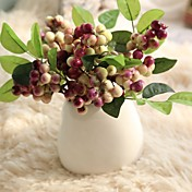 Kunstige blomster 5 Gren Enkel Stil / Bryllupsblomster Juletre / Evige blomster Bordblomst
